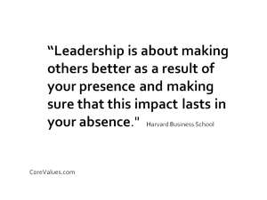 leadership is making people better